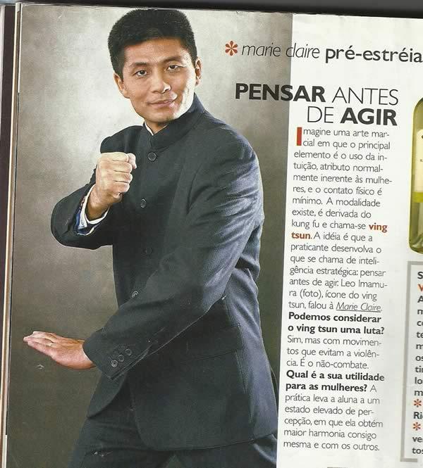 Wing Chun na Revista Marie Claire